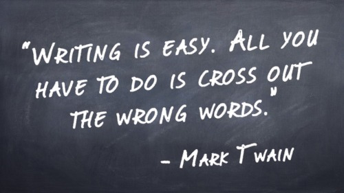 Quote writing Mark Twain