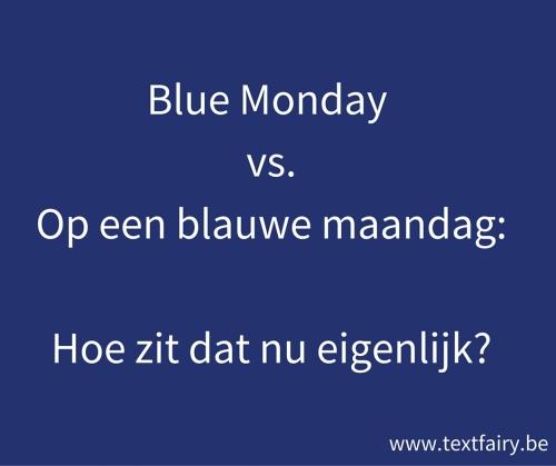 Blauwe maandag Text Fairy Copywriting